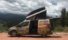 Ford Transit Connect Camper | Profile Open