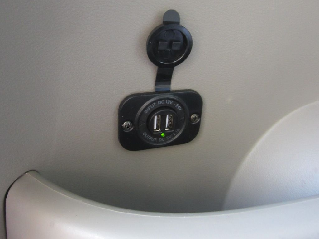 USB Mounted in rear corner of cargo area